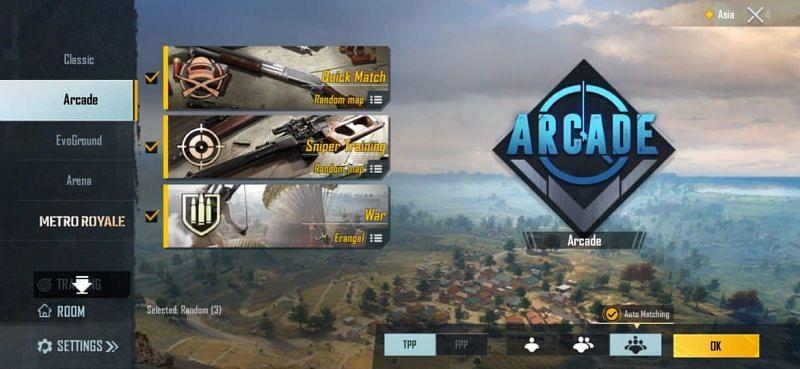 Arcade Modes in PUBG Mobile