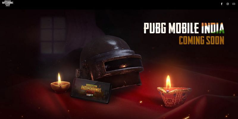 The new PUBG India website