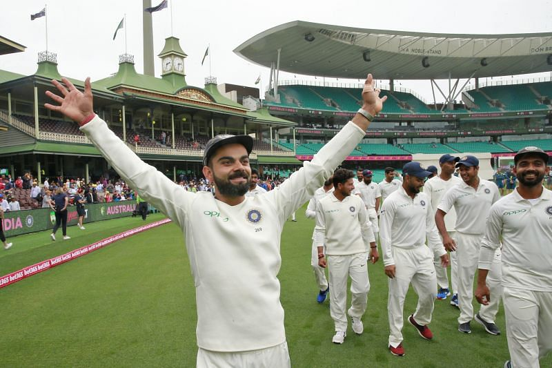 Virat Kohli during the Sydney Test of the 2018/19 Border-Gavaskar Trophy
