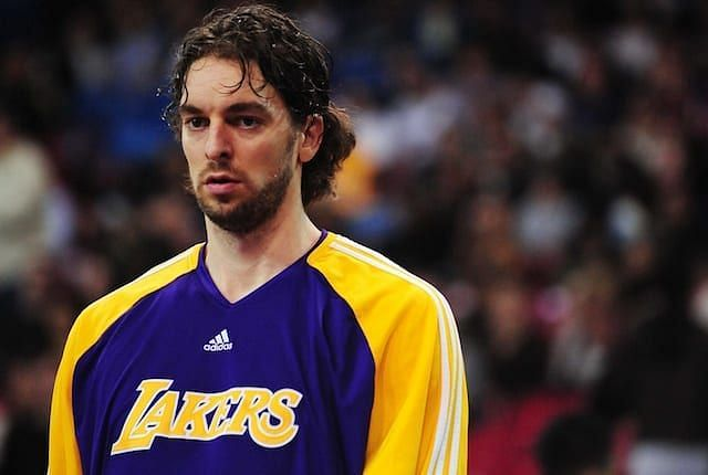 Pau Gasol with the Lakers in 2010