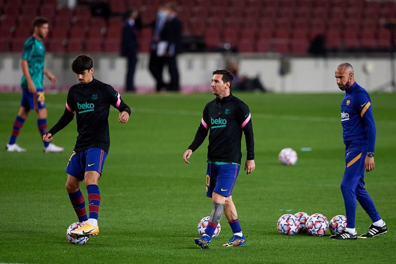 Trincao says that Lionel Messi is a calm presence in the Barcelona dressing room.