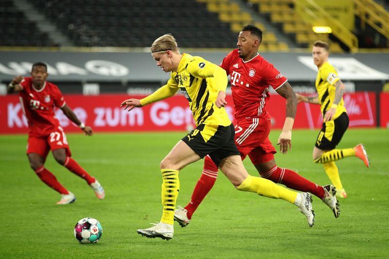 Erling Haaland scored yet again for Borussia Dortmund