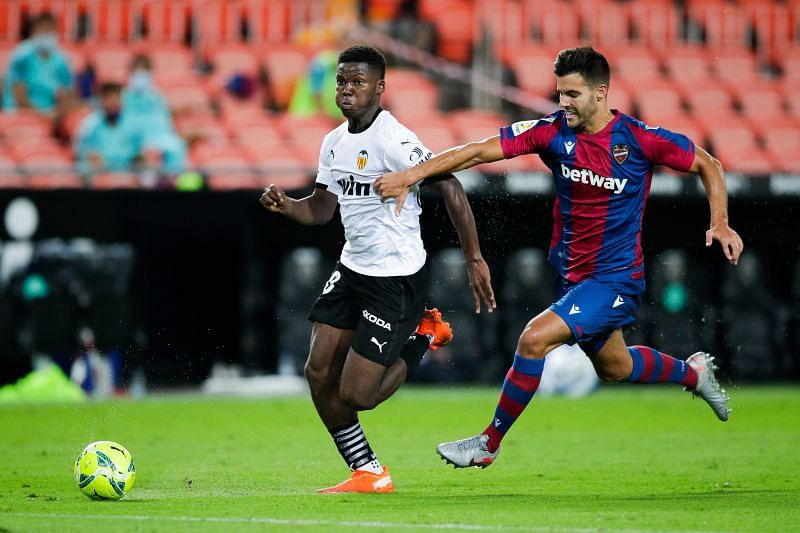 Yunus Musah, in action for Valencia, is still just 17 years old.