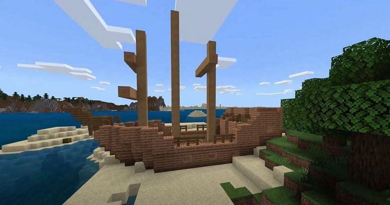 Shipwreck (Image via Minecraft)