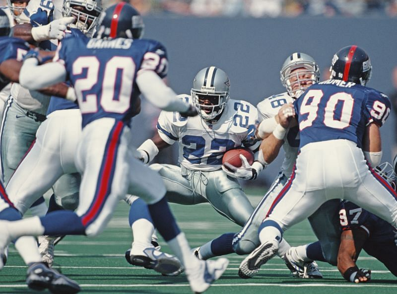 Emmitt Smith stands atop the list of most rushing touchdown list