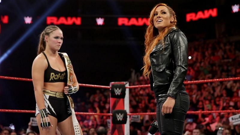 Becky Lynch and Ronda Rousey are both off WWE television currently