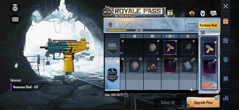 Royale Pass rewards