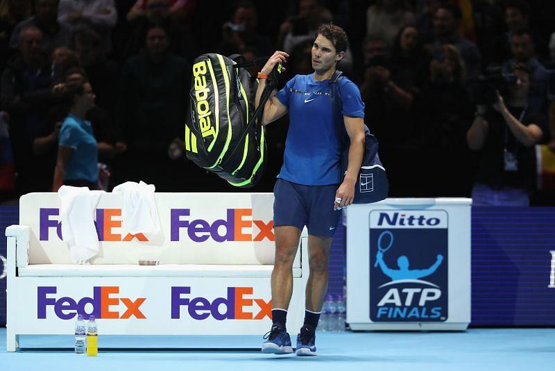 Rafael Nadal at the Nitto ATP Finals 2017