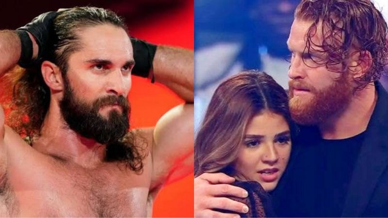 Seth Rollins (left), Aalyah Mysterio, and Murphy (right)