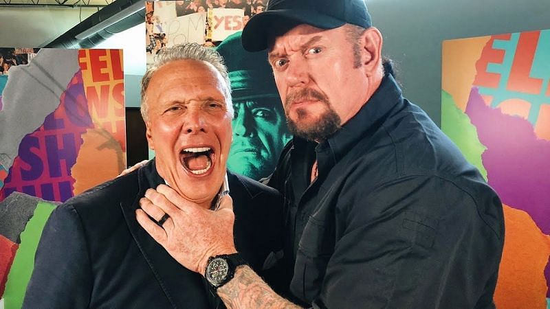 The Undertaker in a rare photo of himself and someone no related to wrestling.