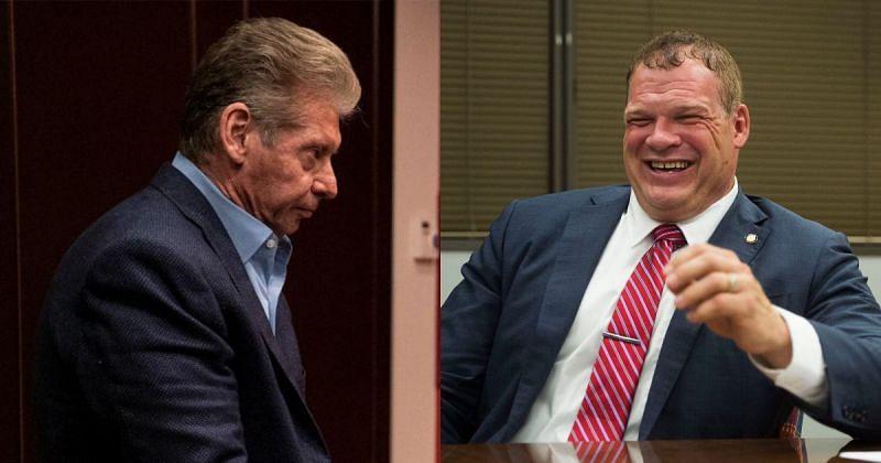 Vince McMahon and Kane.