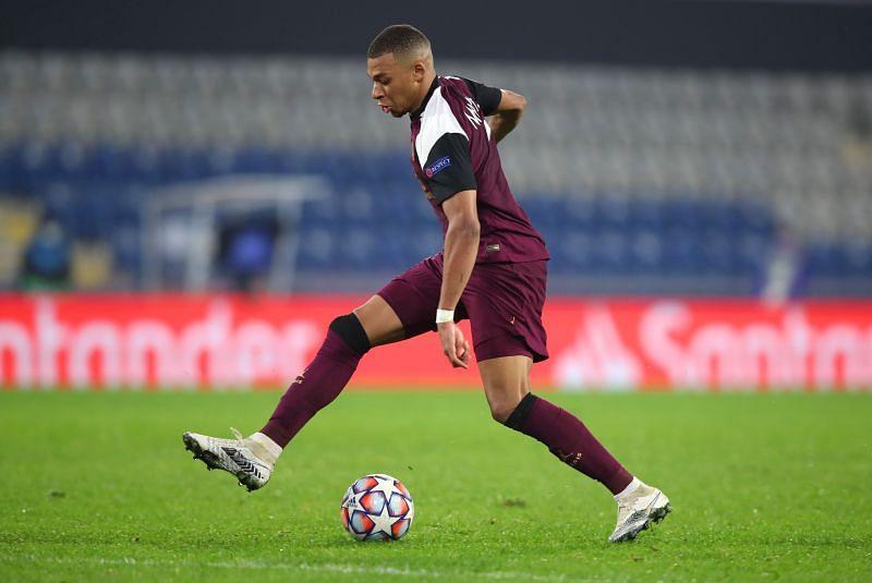 Mbappe in action for Paris Saint-Germain