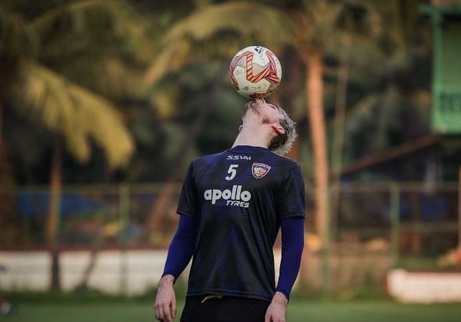 Enes Sipovic during pre-season training