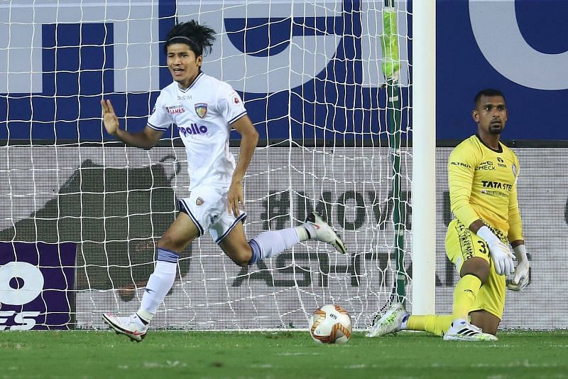 The talented Anirudh Thapa curled the shot past TP Rehenesh to give Chennaiyin FC a quick lead. Courtesy: ISL
