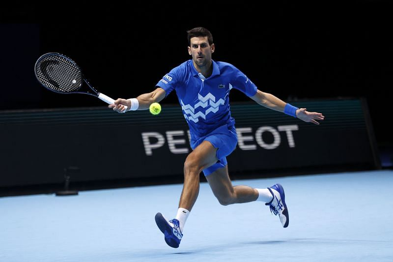 Novak Djokovic at the Nitto ATP Finals 2020