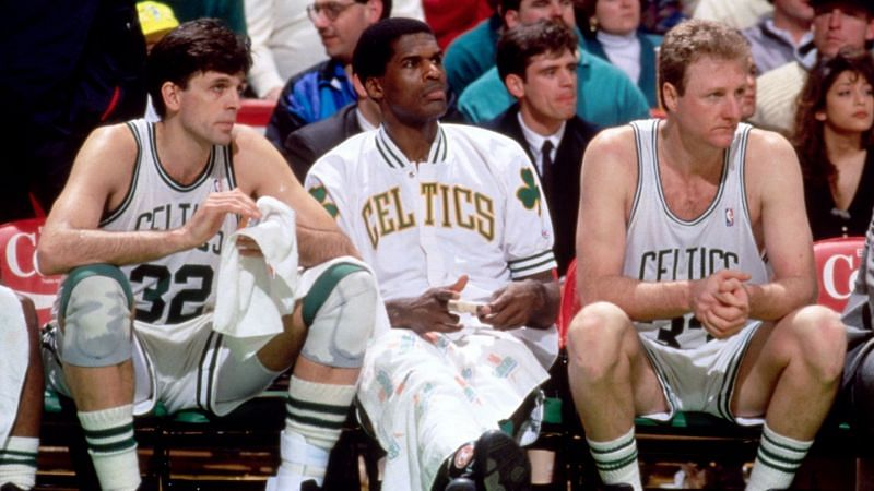 McHale, Parish and Bird won three NBA titles with the Boston Celtics.