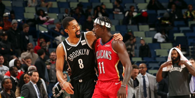 Spencer Dinwiddie and Jrue Holiday