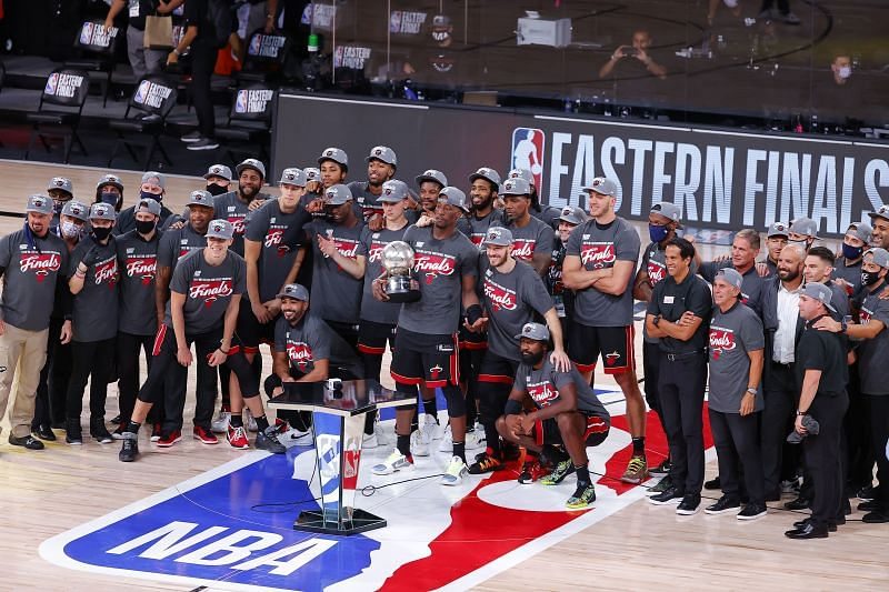 Miami Heat after winning the Eastern Conference