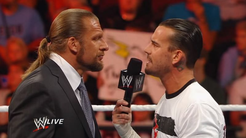 Triple H and CM Punk feuded in 2011