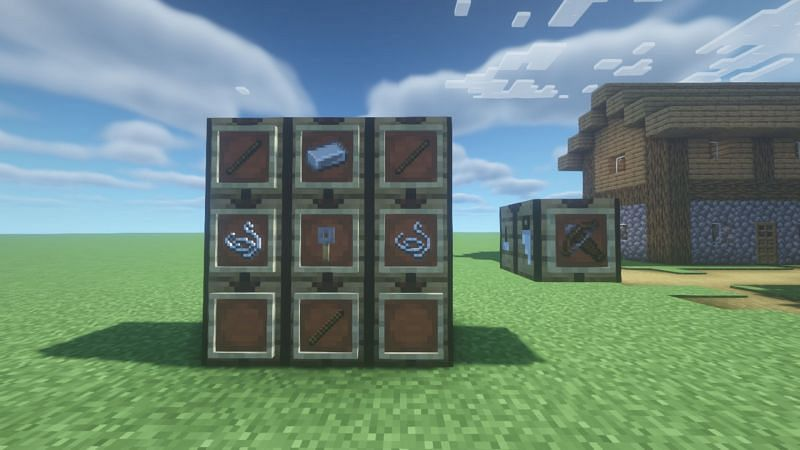 Crossbows have one of the largest damage outputs when outfitted with the correct ammunition and enchantments (Image via Minecraft)