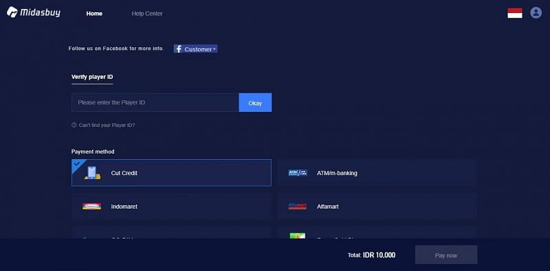 Buy Battle Coins for PUBG Mobile Lite via Midasbuy (Image Credits: Midasbuy)