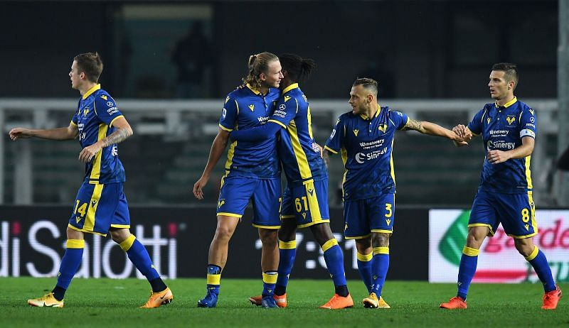Hellas Verona face Sassuolo on Sunday in Serie A