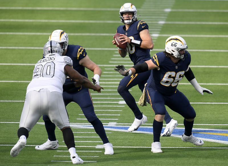 Chargers QB Justin Herbert looks to secure an elusive win on the road against the Dolphins.