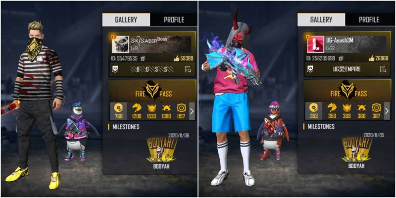 SK Sabir Boss vs UnGraduate Gamer: Who has better stats in Free Fire?