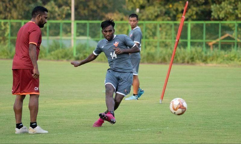 Alexander Jesuraj during a training session for FC Goa