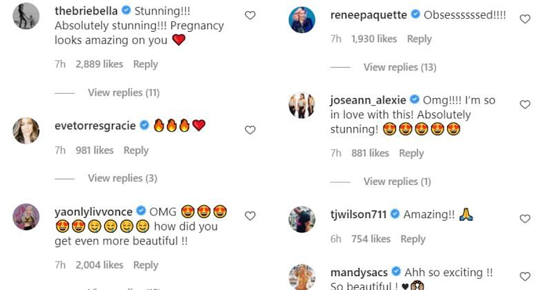 Bayley, Sonya Deville, Thunder Rosa, and more react to Becky Lynch's maternity photoshoot ...
