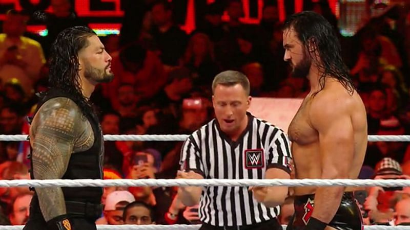 Drew McIntyre came out to confront Roman Reigns on SmackDown
