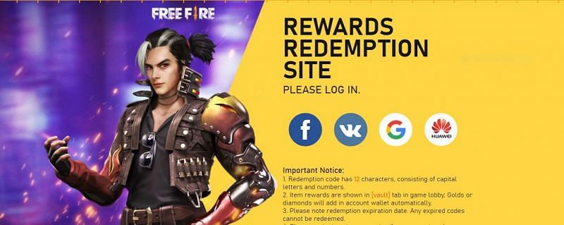 How To Get Free Fire Redeem Codes From Their Official Website