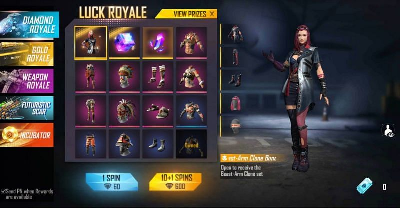 Beast-Arm Clone bundle in the Luck Royale