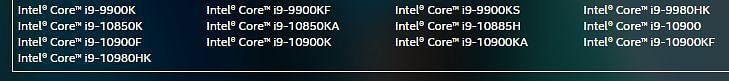 List of qualifying CPUs (Image via FireMonkey)