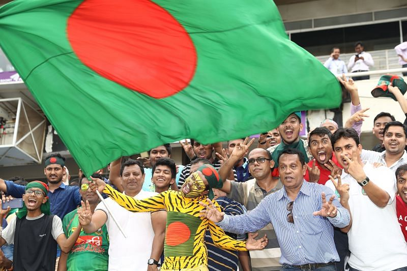 Fans cheering up for Bangladesh