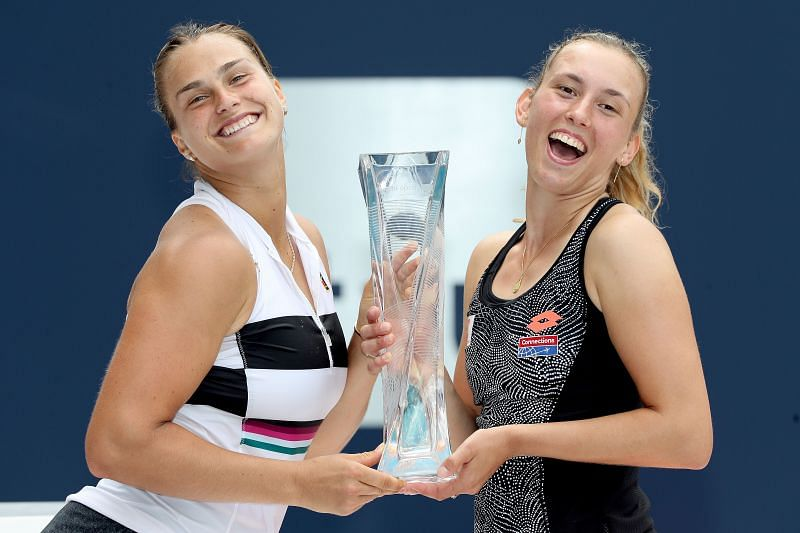 Doubles partners Aryna Sabalenka and Elise Mertens are the top two seeds at Linz