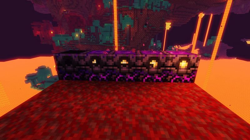 Five stages of the respawn anchor. Image via Minecraft