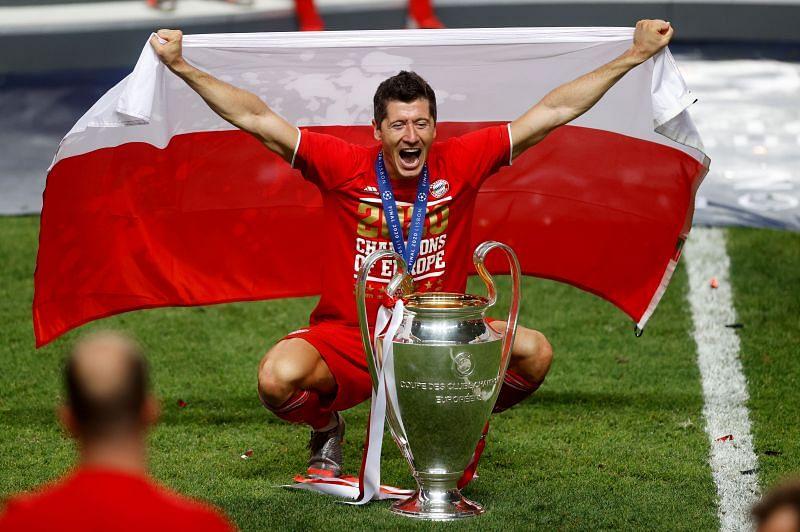 Robert Lewandowski fired Bayern Munich to the treble