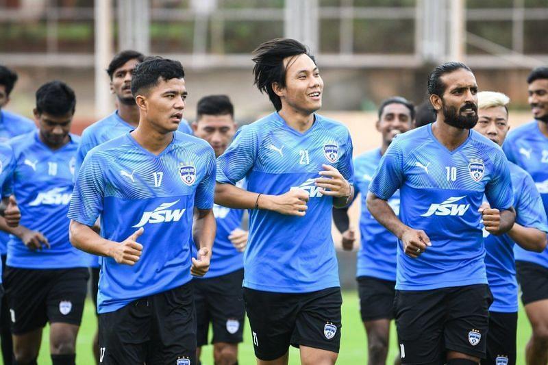 Bengaluru FC players in training (Image - Bengaluru FC Twitter)