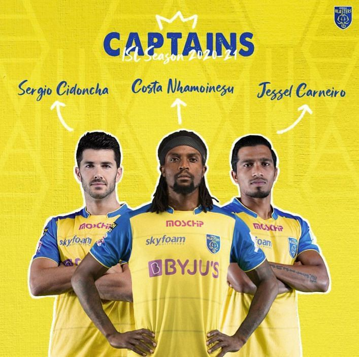 Kerala Blasters captains for the season