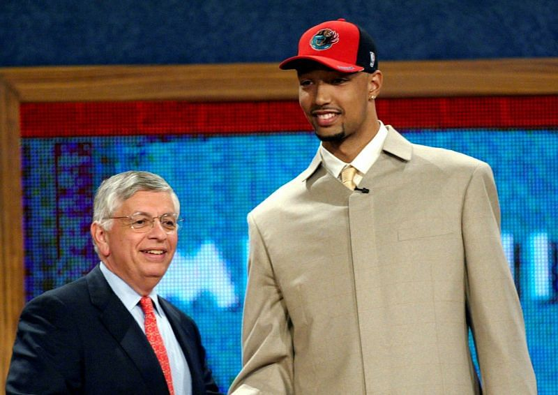 The Memphis Grizzlies selected Drew Gooden (right) with the fourth pick in the 2002 NBA Draft.
