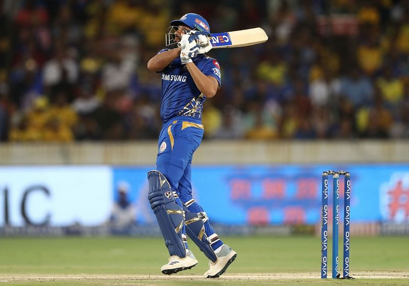 Rohit Sharma in action in the 2019 IPL Final between Mumbai Indians and Chennai Super Kings