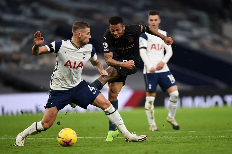 Defender Toby Alderweireld (left) was flawless against a very good Manchester City attack.