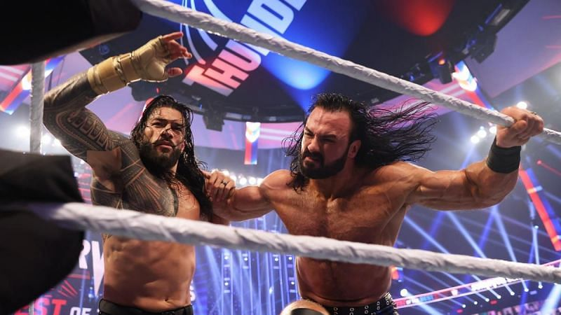 Roman Reigns and Drew McIntyre