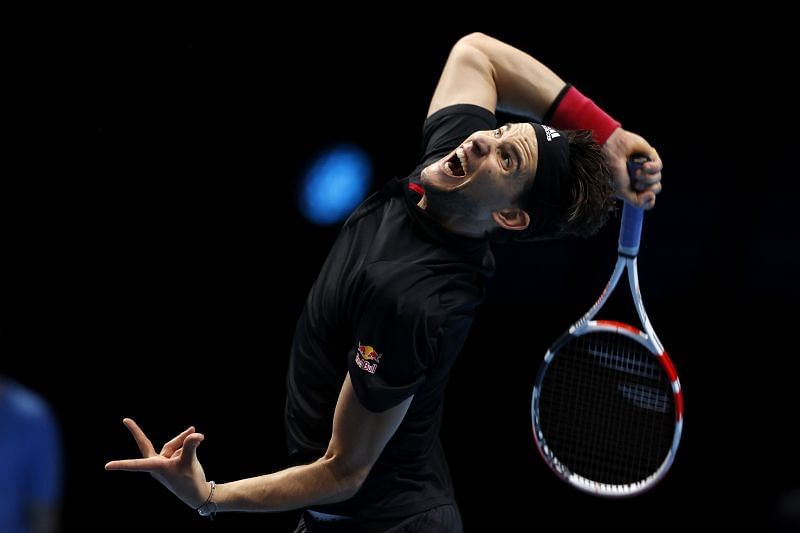 Dominic Thiem at the Nitto ATP Finals