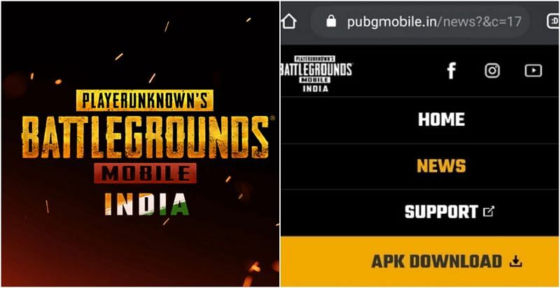 News, support & APK download sections in PUBG Mobile India website have been added