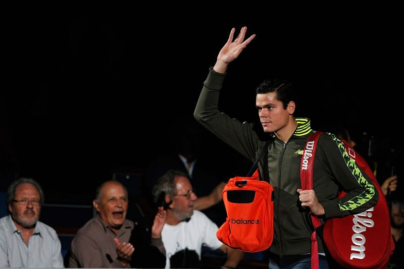 Milos Raonic finished runner-up at the 2014 Paris Masters