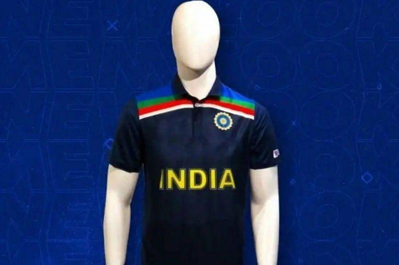 भारतीय टीम की नई जर्सी