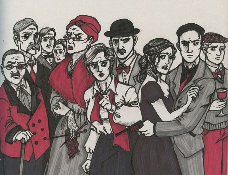 Artwork based on And Then There Were None (Image via Pinterest)