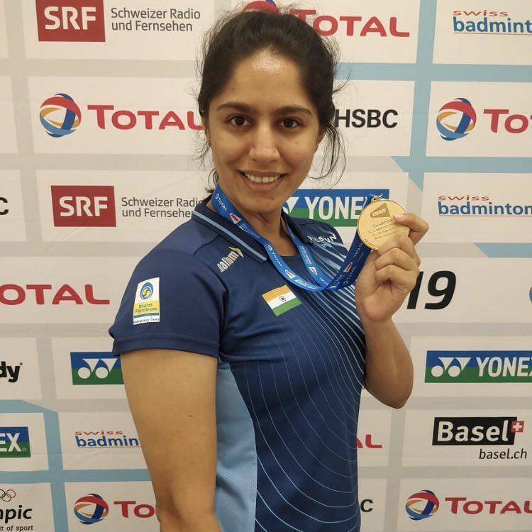Manasi Joshi with the 2019 Para Badminton World Championships gold